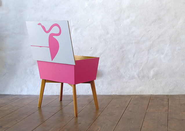 Great Pink Flamingo Box By Lucy Turner