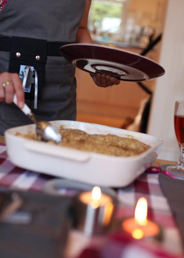 Brabantia Get Together range oven dish, dinner plate, apron, candle holders, kitchen towel