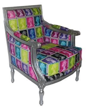 The Colour Union Royal Mail Queen & Louis Velvet Lounge Chair