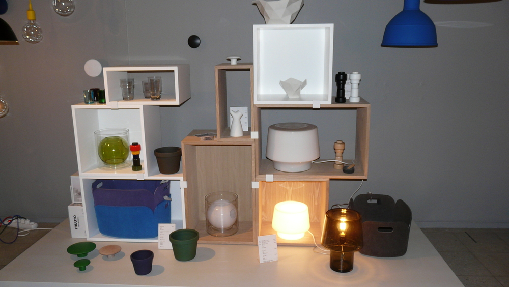 A display of products by Muuto at Design Forum Finland