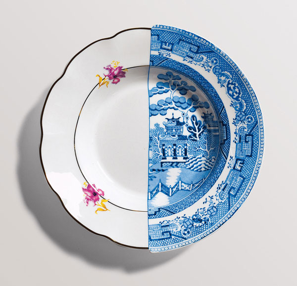 Plate from the Hybrid Collection by Seletti
