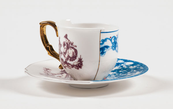 Cup & saucer from the Hybrid Collection by Seletti