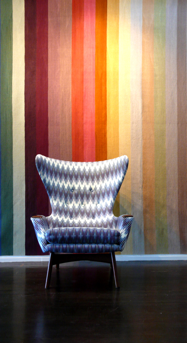 Adras Chair with Code rug by Ptolemy Mann