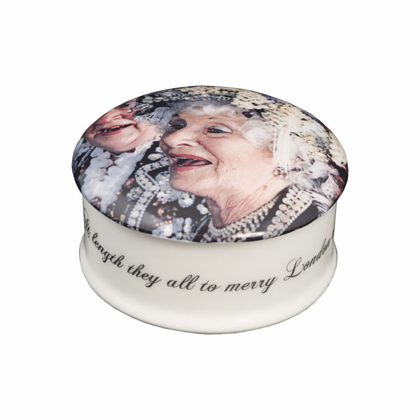 Pearl Queens Trinket Box from the Love London Collection by Barbara Chandler