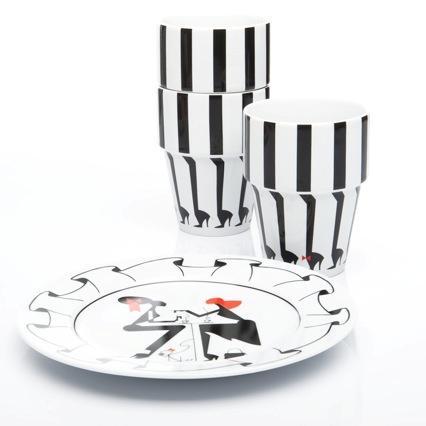Milk Mug & Ruffle Plate by Piet Paris for Jansen + Co
