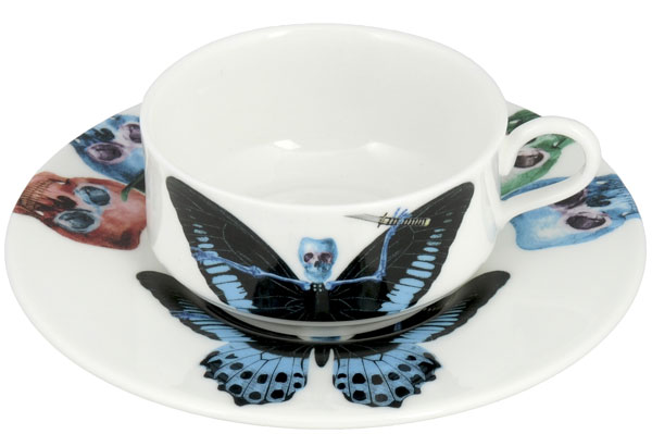 Putulanus Cup & Saucer from the Lepidoptera Collection by New English