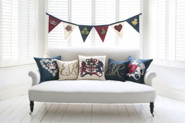 Diamond Jubilee cushions by Jan Constantine