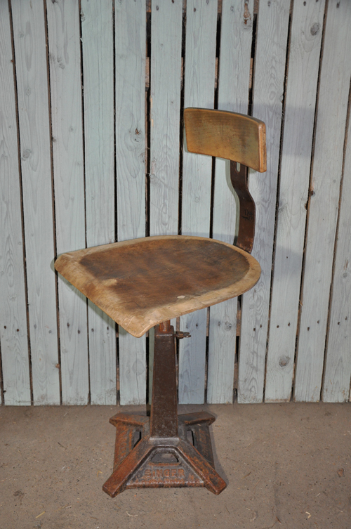 "Industrial ""singer"" chair from Home Barn"