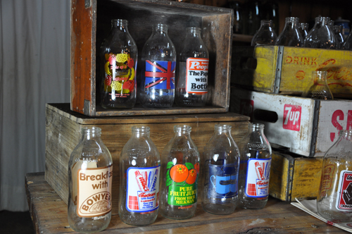 Vintage Milk Bottles from Home Barn