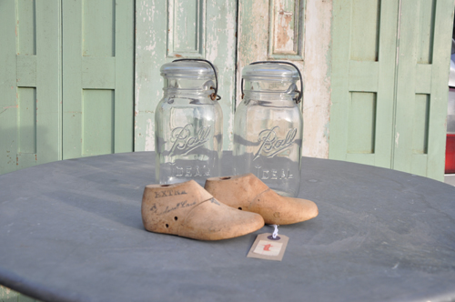 Vintage shoe lasts from Home Barn