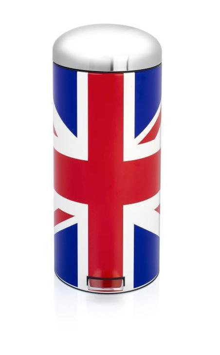 30 litre Union Jack Brabantia bin