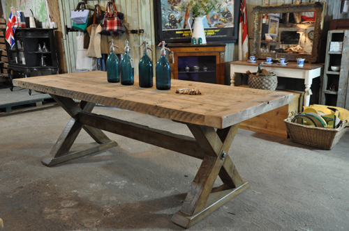 Reclaimed Wood Trestle Dining Table From Home Barn Part 97