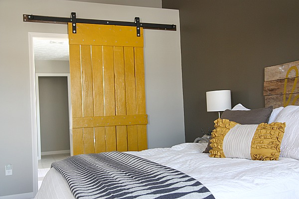 Yellow Barn Door for Bedroom