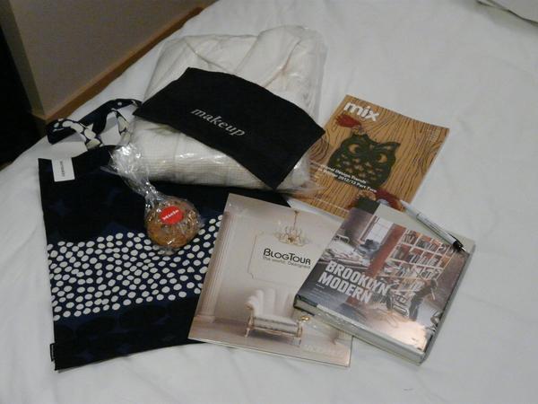 BlogTourNYC goodie bag from Modenus & Sponsors