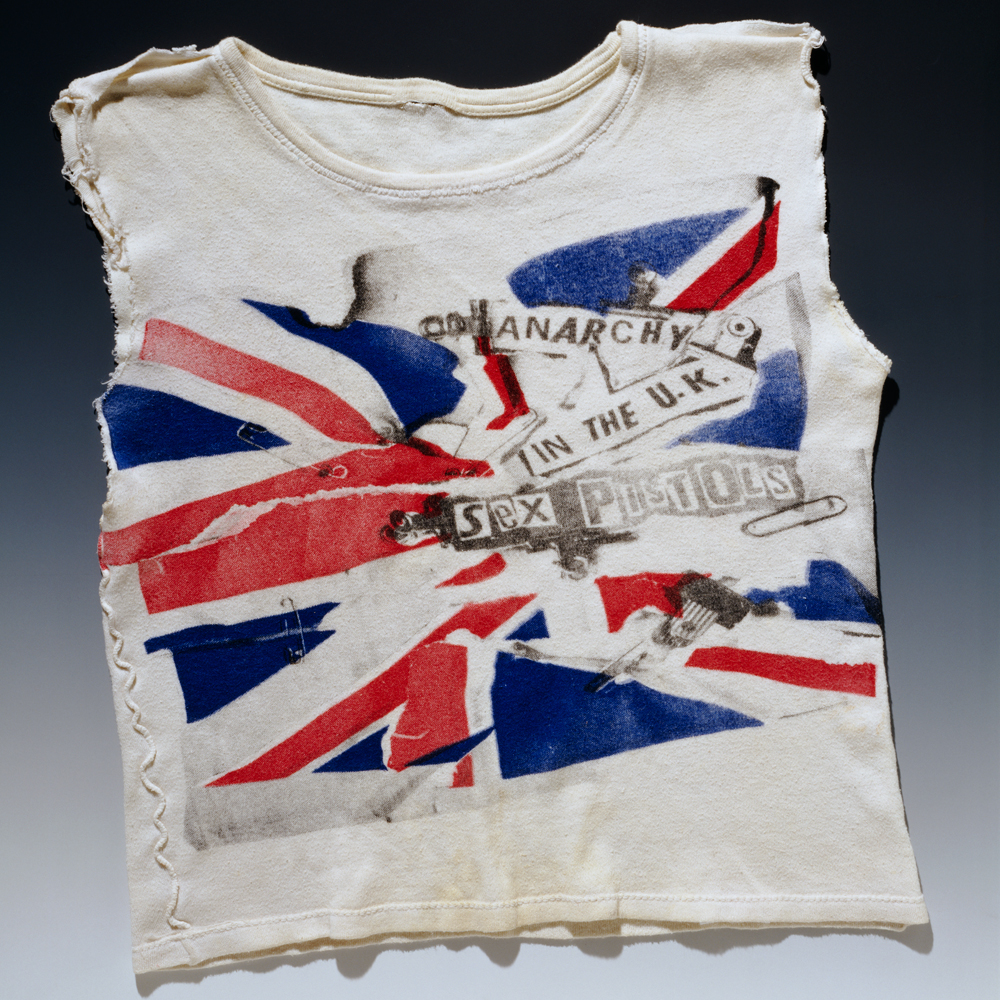 Anarchy in the UK T-shirt, by Vivienne Westwood & Malcolm McLaren