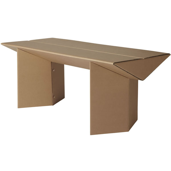 karton cardboard furniture. the chairmanu0027s table by karton cardboard furniture a