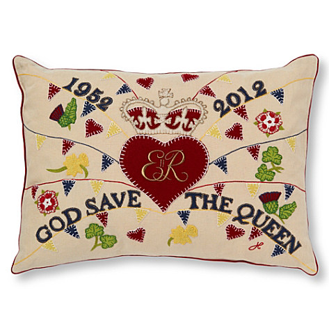 Jan Constantine Embroidered Street Party cushion