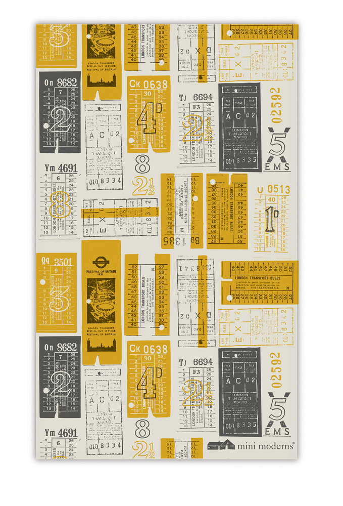 Mini Moderns Hold Tight Tea Towel