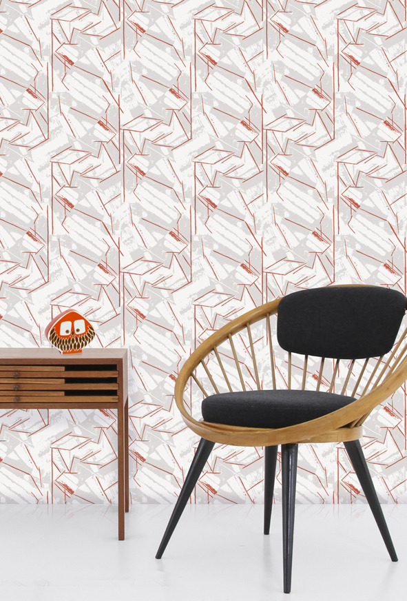 Mini Moderns Vanessa Wallpaper - Harvest Orange
