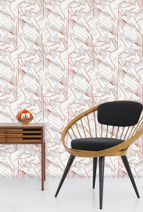 Mini Moderns Vanessa Wallpaper - Harvest Orange