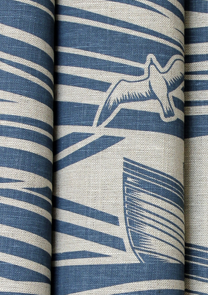 Mini Moderns Whitby Fabric - Washed Denim