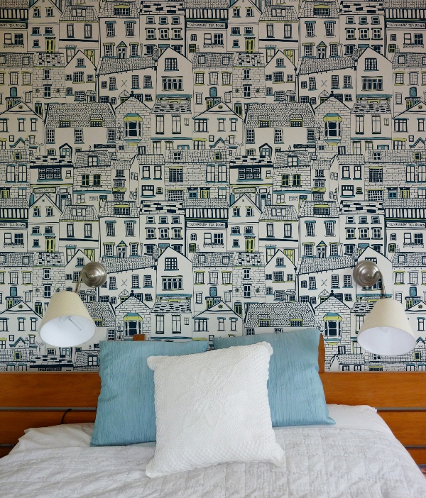Coastal Cottages Wallpaper by Jessica Hogarth
