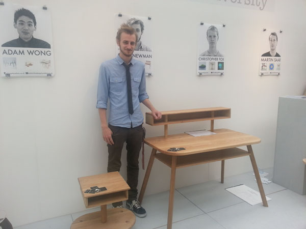 Desk & Side Table by Chris Newman at New Designers 2012