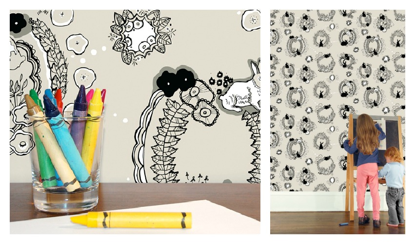 Emily Isabella Rabbit Tat Tat Wallpaper from Hygge & West