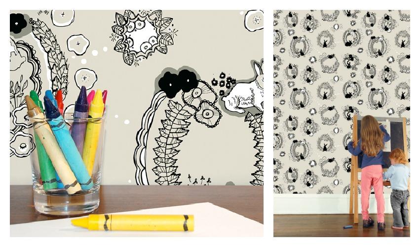 Emily Isabella Rabbit Tat Tat Wallpaper from Hygge & West
