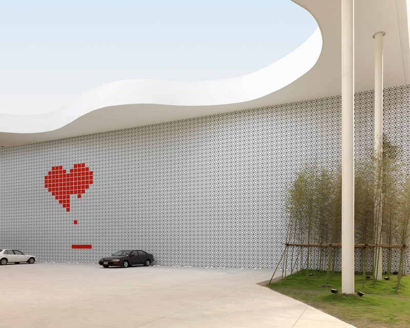 Heart Game outdoor wallpaper by Wall and Deco