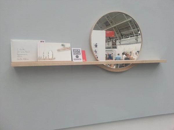 Impact Hall Mirror by Nicola Williamson at New Designers 2012
