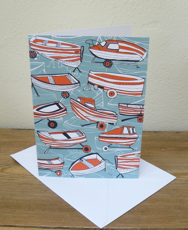 Boat Nostalgia Greeting Card by Jessica Hogarth