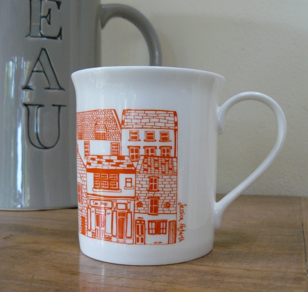Coastal Cottages Mug by Jessica Hogarth