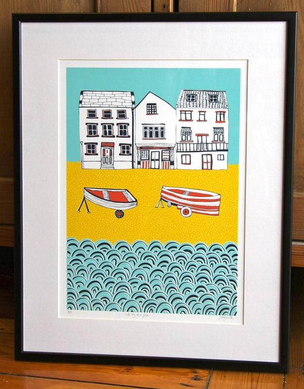 Life by the Sea Print by Jessica Hogarth