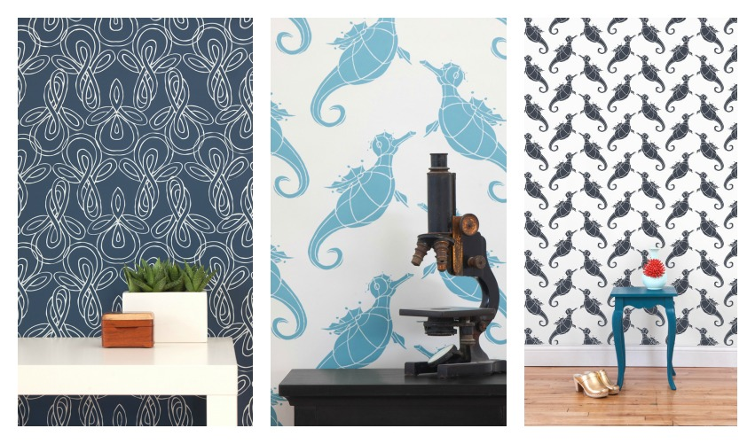 Terrence Payne Knots & Seahorses Wallpaper from Hygge & West