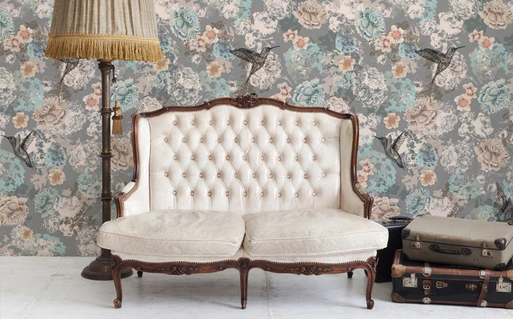 Birdsong wallpaper by Louise Tiler