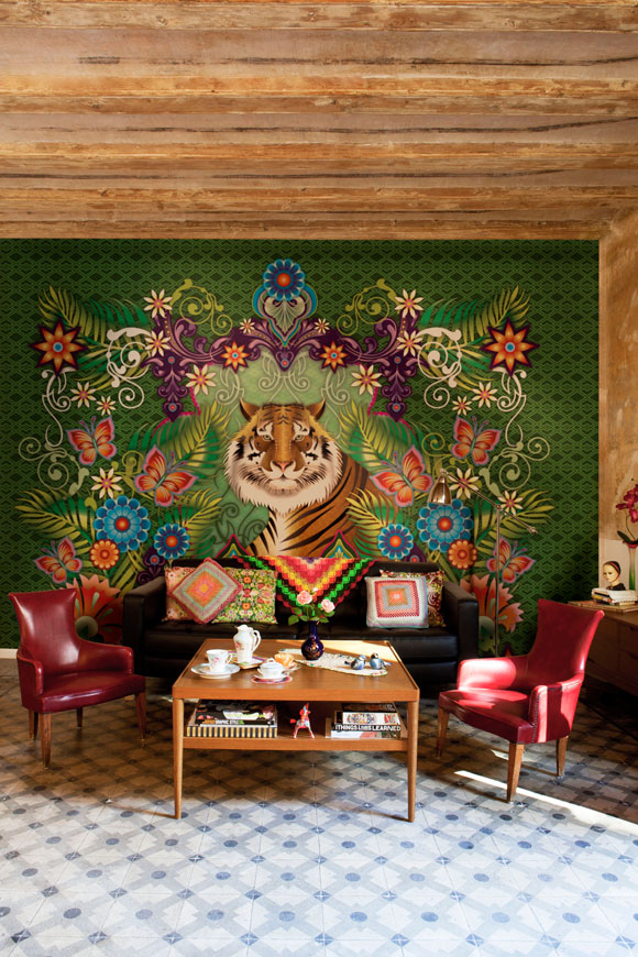 Catalina Estrada Wallpaper - Tiger Mural