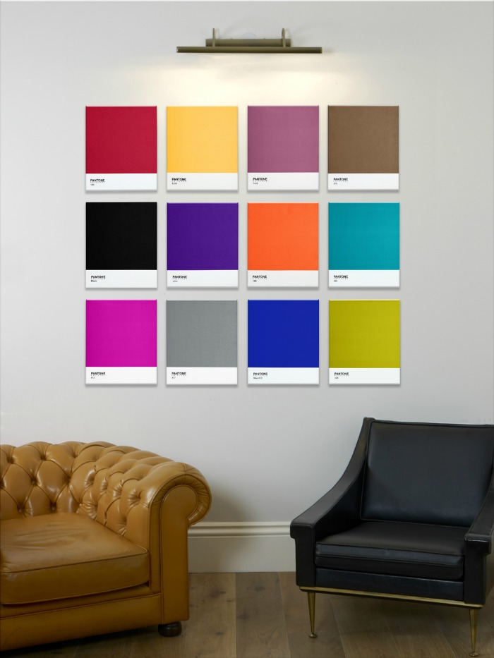 Contemporary wall art from pantone the design sheppard Art for office walls