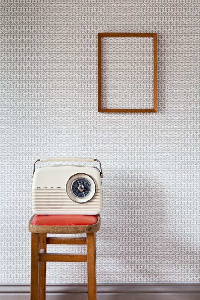 Prudence Wallpaper in Cloud by Rachel Powell