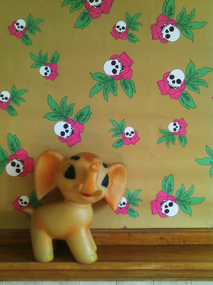 Skull Rose Wallpaper by Brennan & Burch