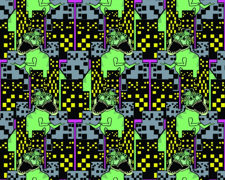 Flats Monsters Wallpaper by Brennan & Burch