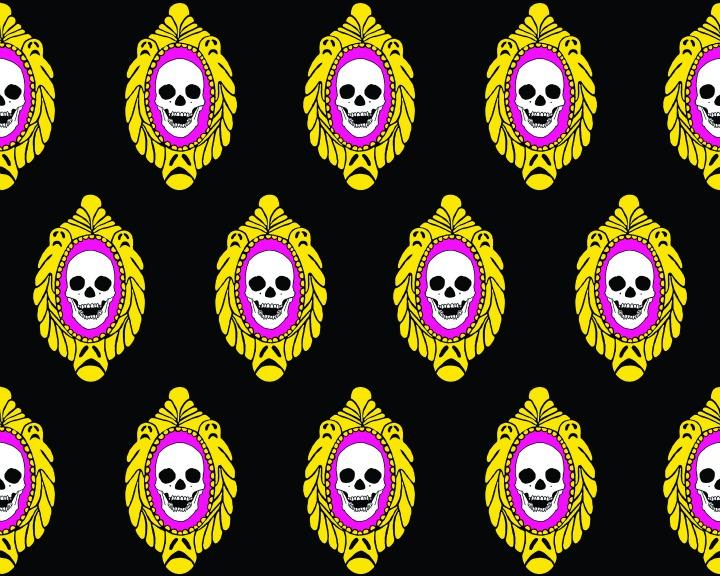 Skull Frame Wallpaper by Brennan & Burch