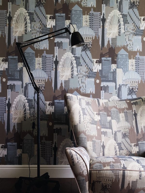 Penaholic London Skyline wallpaper by Linwood