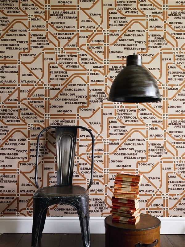 Mind the Gap Wallpaper by Linwood