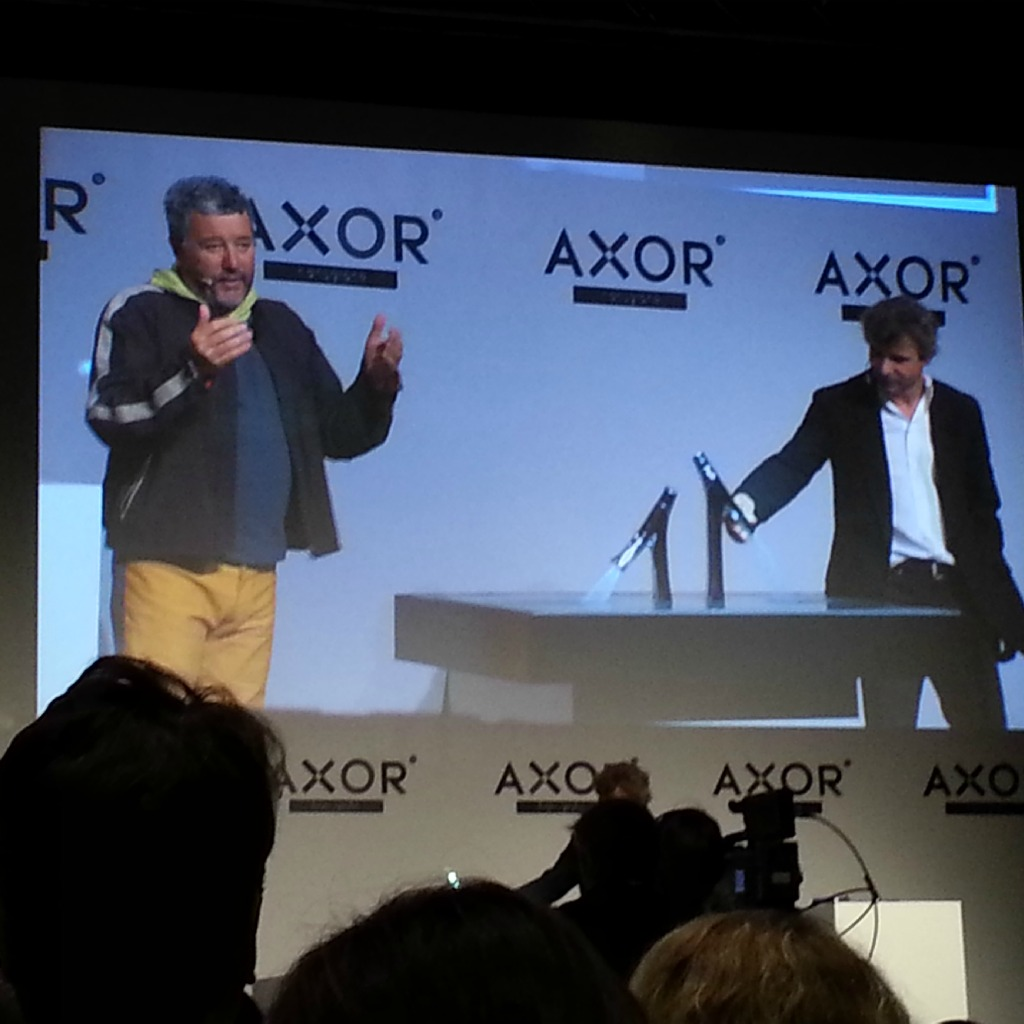 Philippe Grohe & Philippe Starck in Berlin at the Axor Starck Organic Launch