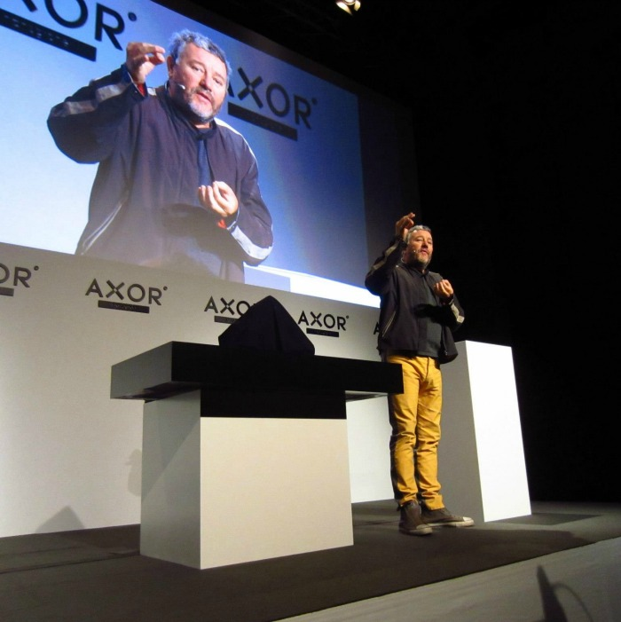 Philippe Starck at the Axor Starck Organic launch in Berlin 2012