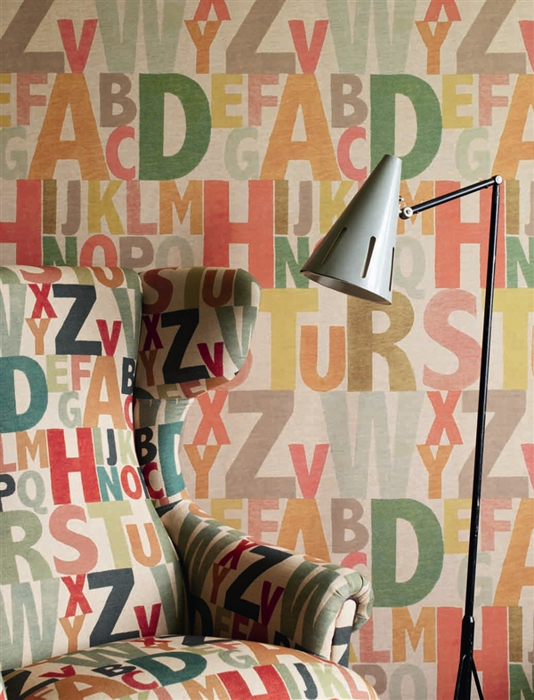 Rainbow Letters Wallpaper by Linwood