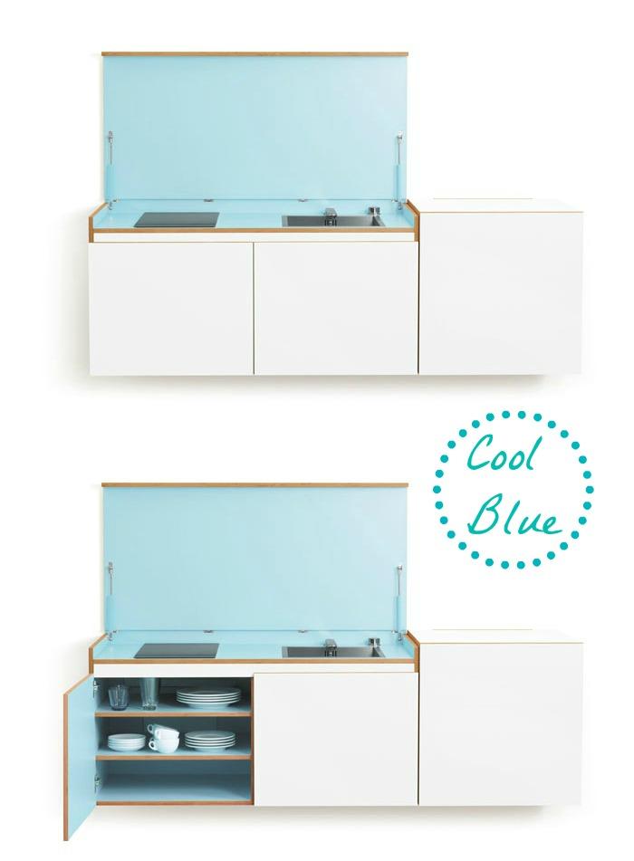 Miniki Mini KItchen in White and Blue